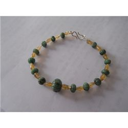 72.20 ctw Emerald and Semi Precious Bracelet .925 Sterl