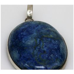 Natural 139.79 ctw Semi Precious .925 Sterling Pendant
