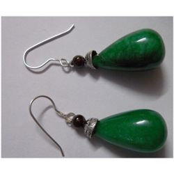 Natural 67.35ct Emerald Earring .925 Sterling
