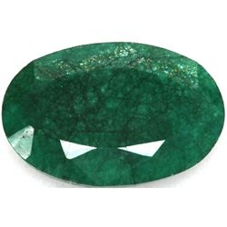 African Emerald Loose Gems 128.74ctw Oval Cut