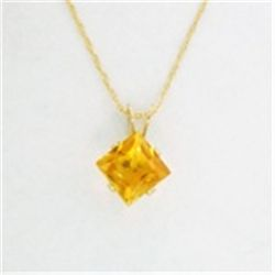 Gold Genuine Citrine Necklace