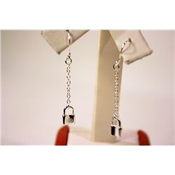FINE TIFFANY &amp; CO LOCKET DROP EARRINGS