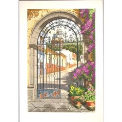 Juan Medina GATEWAY TO THE VILLAGE Landscape Art Print