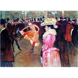 Toulouse-Lautrec Ltd Art Print At The Moulin Rouge II