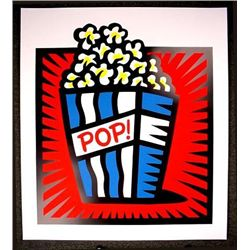 HUGE Pop Art Burton Morris AMERICAN POP RED S/N Print