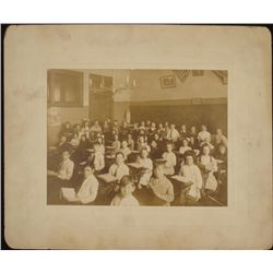 Antique Photograph Old Grade School Classroom Children