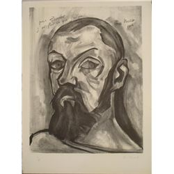 Christian Zeimert Signed Art Print Portrait of Matisse