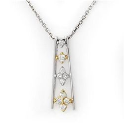 Natural 0.25 ctw Diamond Necklace 10K Multi tone Gold