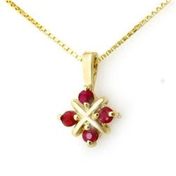 Genuine 0.45 ctw Ruby Pendant 10K Yellow Gold