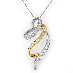 Natural 1.25 ctw Diamond Necklace 14K Multi tone Gold