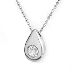 Natural 0.40 ctw Diamond Necklace 14K White Gold