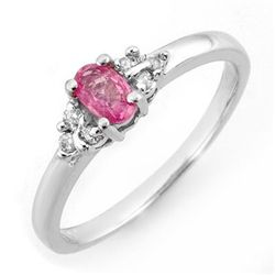 Genuine 0.44 ctw Pink Sapphire &amp; Diamond Ring Gold