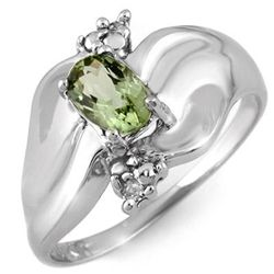 Genuine 0.54 ctw Green Tourmaline & Diamond Ring Gold