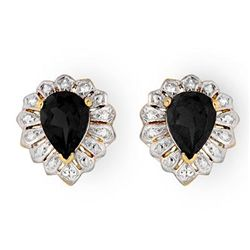 Genuine 2.20 ctw Sapphire Stud Earrings 10K Yellow Gold