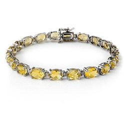 Genuine 16.4 ctw Citrine Bracelet 10K White Gold