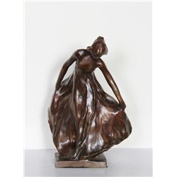 Carl Milles, Female Dancer, Bronze Sculpture