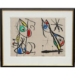 Joan Miro, Courtesan Grotesque (Dupin 666), Aquatint Etching