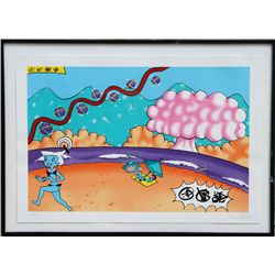Kenny Scharf, Judy on the Beach, Silkscreen