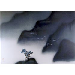 David Lee, Misty Mountains, Lithograph