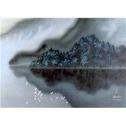 David Lee, Night and Fog on Island, Lithograph