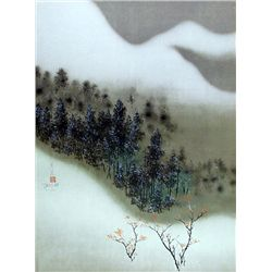 David Lee, Snowy Mountain, Lithograph