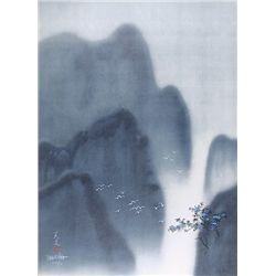 David Lee, Birds in a valley, Lithograph