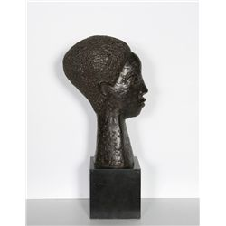 James Denmark, Head of a Woman, Bronze Sculpture