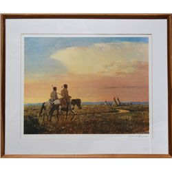 Duane Bryers, Return of the Hunters, Lithograph