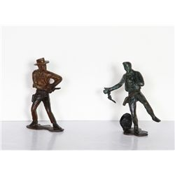 Cowboy Shootout (pair), Bronze Sculptures