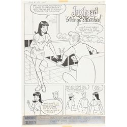 "Samm ""Jughead"" Schwartz, Jughead ""Strings Attached"" #197, 6 Pages of Ink Drawings"