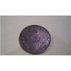 1825 Bust Half Silver Dollar XF Patched 3