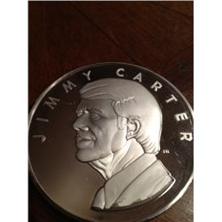 6.4Troy Oz .999 Pure Silver Jimmy Carter Medallion