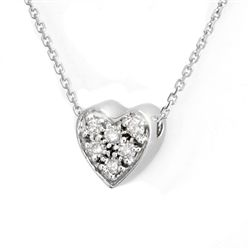 Natural 0.20 ctw Diamond Necklace 14K White Gold