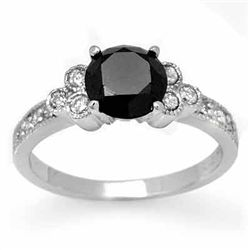 Natural 1.86 ctw White & Black Diamond Ring 14K Gold