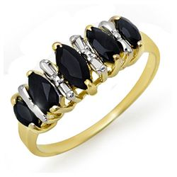 Genuine 1.02 ctw Sapphire Ring 10K Yellow Gold