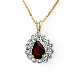 Genuine 1.0 ctw Garnet Pendant 10K Yellow Gold
