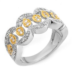 Natural 0.50 ctw Diamond Ring 10K Multi tone Gold