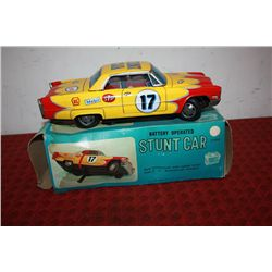 BATTERY OPERATED STUNT CAR IN ORIG. BOX - 11