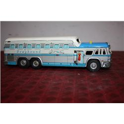 """GREYHOUND BUS - 10"""" W/ MOVABLE PARTS - PRESSED TIN - JAPAN"""