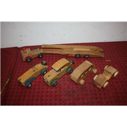 LOT OF WOODEN TOYS