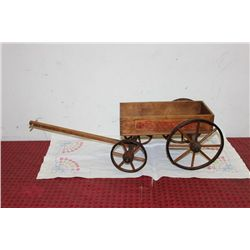 """WOODEN WAGON - MADE BY PARIS MFG. CO. - 35"""" X 12"""""""