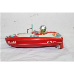 "TIN SPEED BOAT 10"" WORKS"