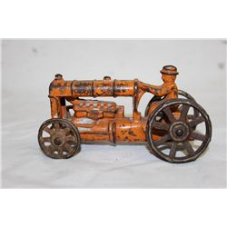 EARLY CAST IRON FARM TRACTOR - ORIG PAINT - NO NAME 5""