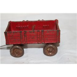 CAST IRON WAGON BY ARCADE - ORIG PAINT