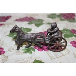 RACE HORSE & DRIVER - IRON - ALL GOOD - 5""