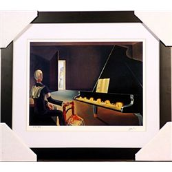 Salvador Dali Signed Limited Edition -Six Apparitjons of Lenin a Grand Piano