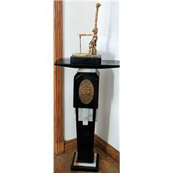 Dali Limited Edition 24K Gold Layered Bronze  Sculpture -Giraffe Woman With Drawers with Pedestal