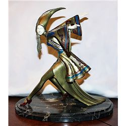 Signed A.R. Dergado Bronze and Ivory - Feuervogel
