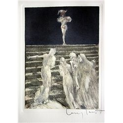 Original Louis Icart Lithographs from Le Faust suite - Ghostly Vision