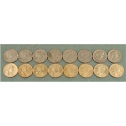 $1 10 Coin Set Susan B. Anthony & Sacagawea Dollars UNC